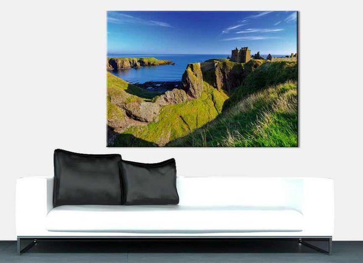 Coast Scottish - Tableau de falaises en Écosse