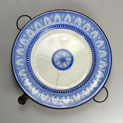 John Marston 1860's Staffordshire Copper based Warming Plate   Pinned by www.silver-and-grey.com