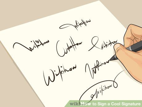 How to Sign a Cool Signature: 14 Steps (with Pictures)
