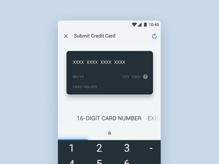Submit Credit Card Flow