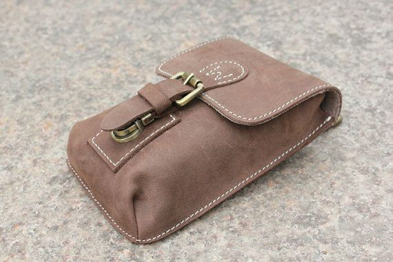 Mens Waist Bag Hip Bag Leather Pouch Fanny by BJLeatherCorner, $55.00
