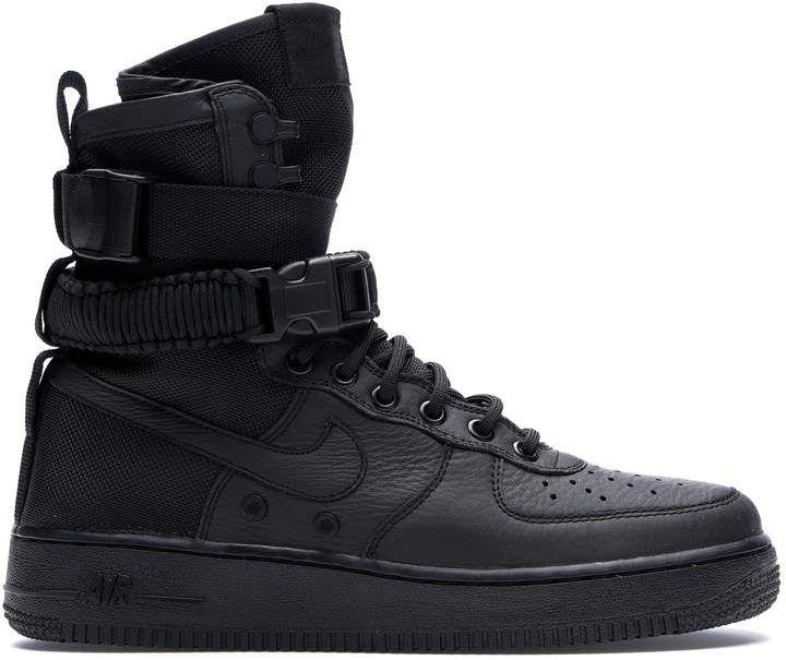 Nike Sf Air Force 1 High Triple Black In 2020 Air Force 1 High Triple Black Nike
