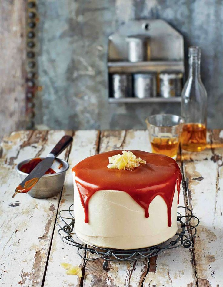 gingerbread cake with whiskey caramel