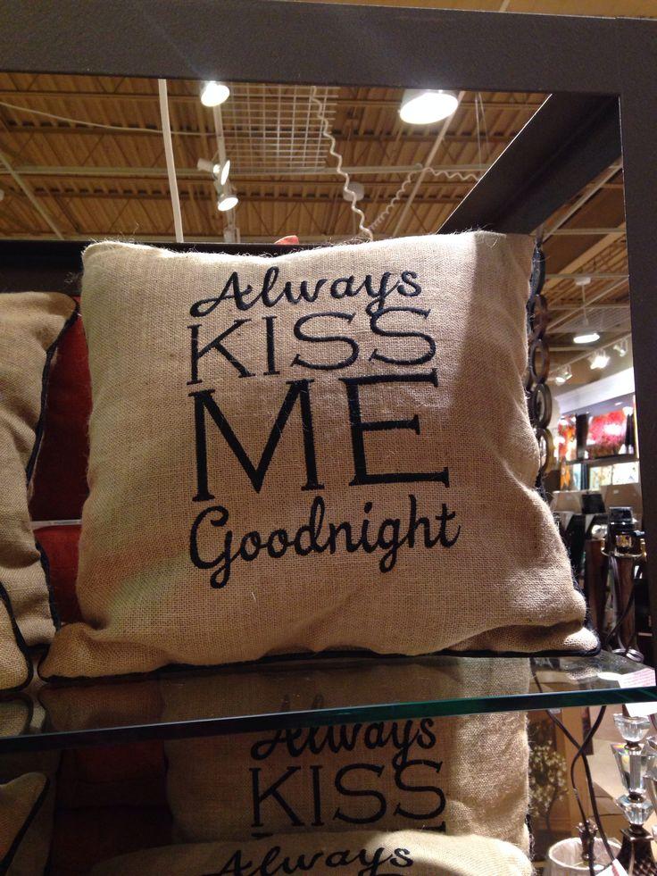 Burlap pillow  At Kirklands