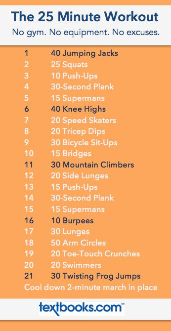 The 25 Minute Workout // 21 Moves in 25 Minutes // No equipment needed, no excuses allowed! Download the workout moves to your phone and pin on Pinterest for easy access anywhere! File under: dorm room workout, hotel room workout, travel workout, do anywhere workout, no equipment workout, totally kickbutt workout!