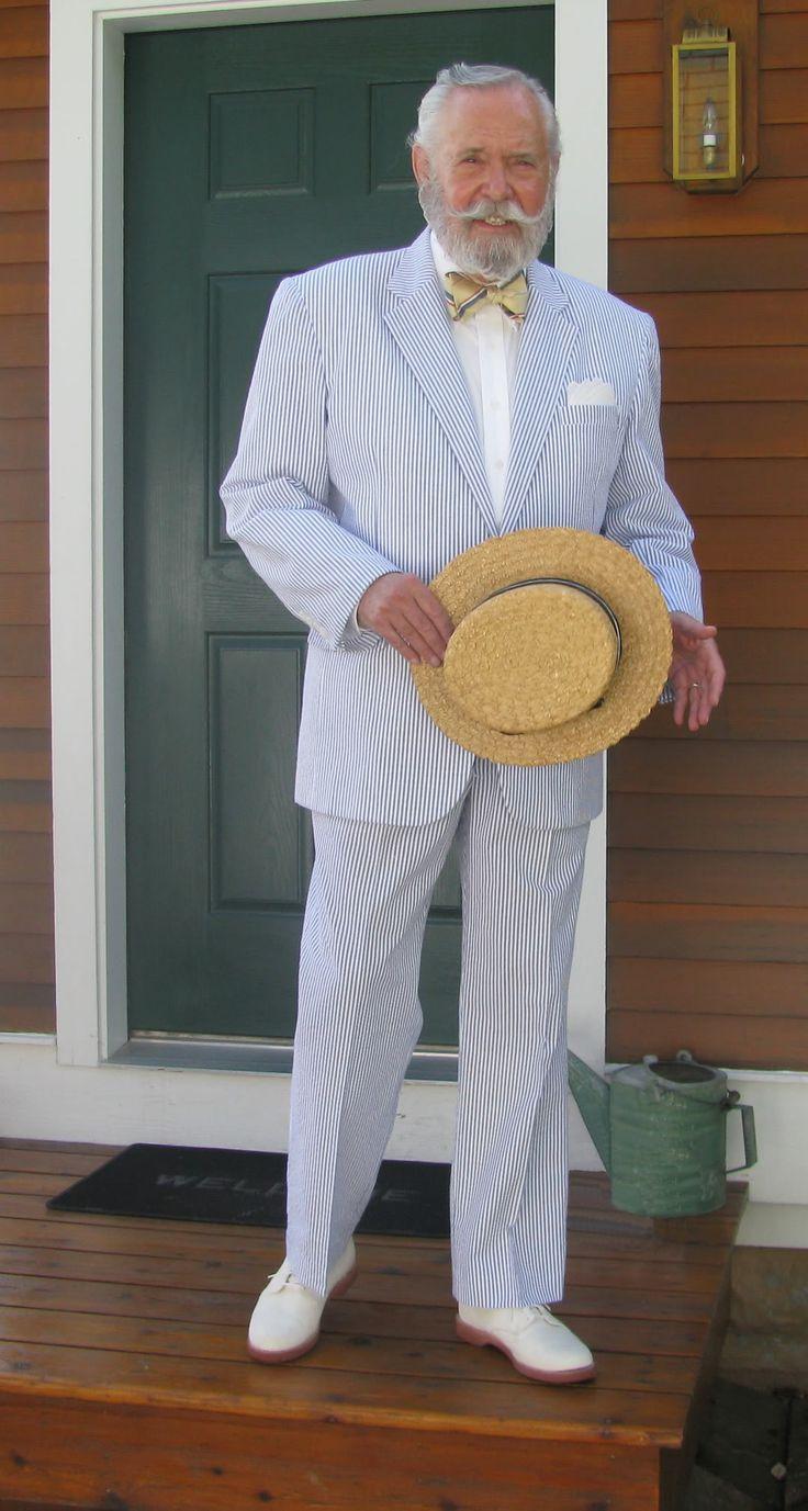 Head To Toe Southern Gent in Seersucker Suit
