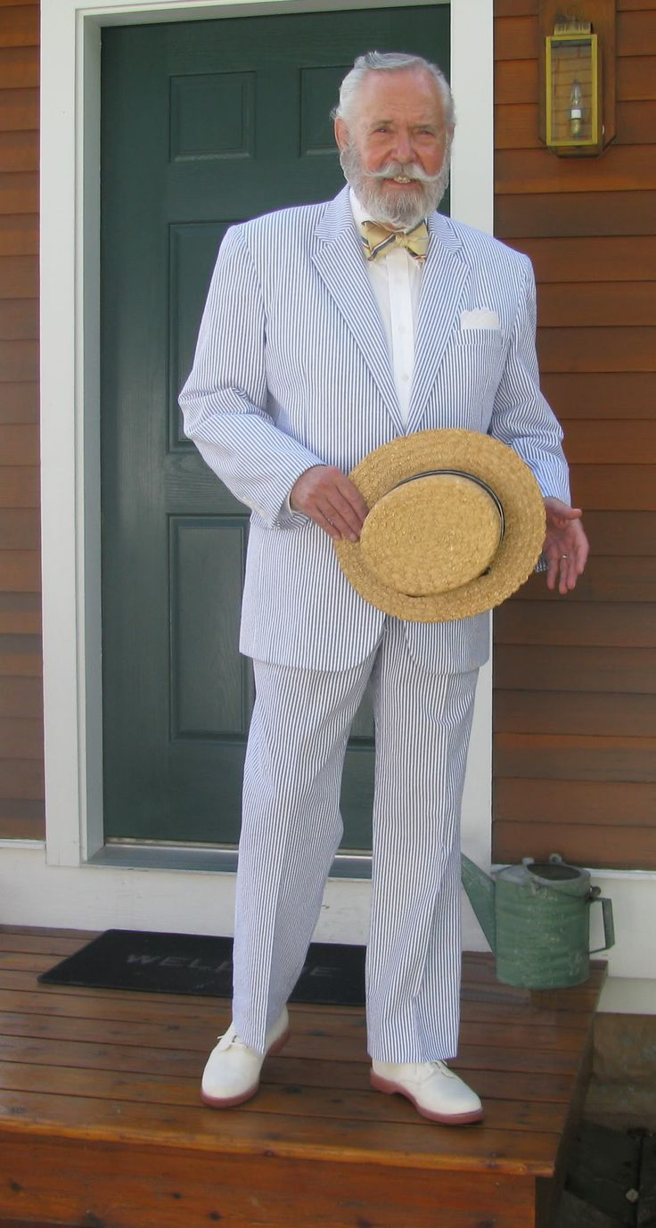 Head To Toe Southern Gent in Seersucker Suit! #thesouth