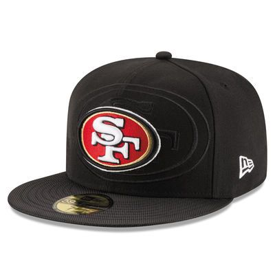 New Era San Francisco 49ers Youth Black 2016 Sideline Official 59FIFTY Fitted Hat