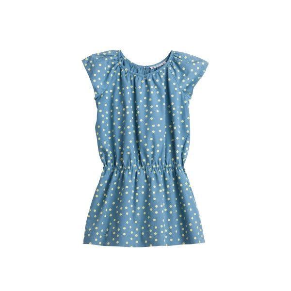 Robe Candice Pois bleu du nord