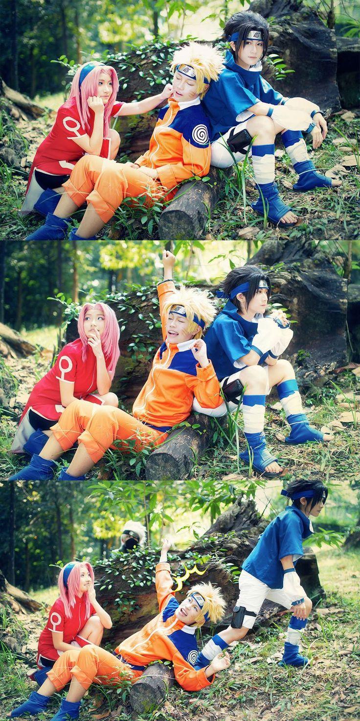 Afternoon nap - Ryeain Naruto Uzumaki, Sakura Haruno, Kazuko(Fujiwara Kazuko) Sasuke Uchiha Cosplay Photo - WorldCosplay