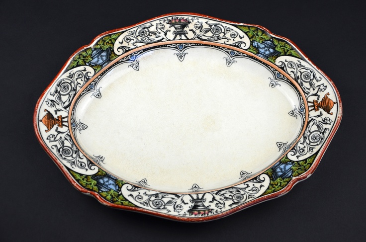 http://stores.ebay.com/Forest-Metrics  Antique Wedgwood Queen Charlotte Serving Dish Dining Platter Plate Gothic Neoclassical Rd1474 #antiques #Wedgwood #QueenCharlotte #neoclassical #antiquesroadshow