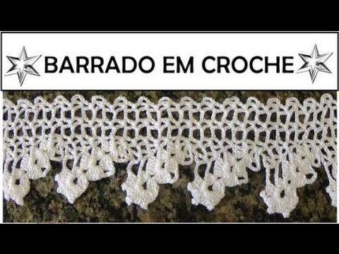 BARRADO EM CROCHÊ PASSO A PASSO P/ TOALHA OU PANO DE PRATO - YouTube