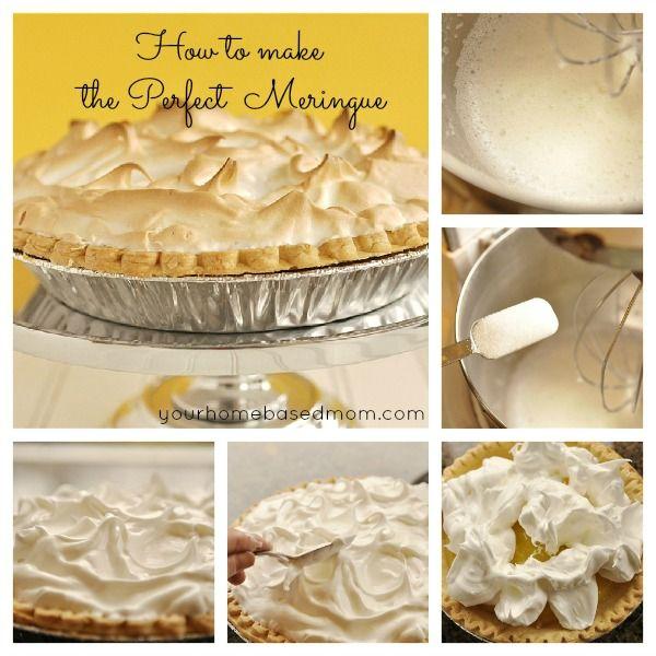How To Make a Perfect Meringue @yourhomebasedmom.com  #pie,#lemon,#recipes
