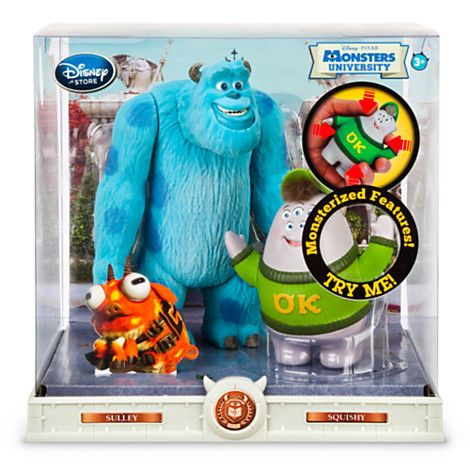 NEW Disney Monsters University Action Figure Set with Sulley & Squishy #Disney