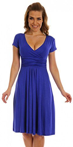 Glamour Empire Women's Knee Length Short Sleeve Jersey Skater Summer Dress 108 (Royal Blue, 6) Glamour Empire http://www.amazon.com/dp/B00TPRKFLI/ref=cm_sw_r_pi_dp_hQ1-vb1R75KXA