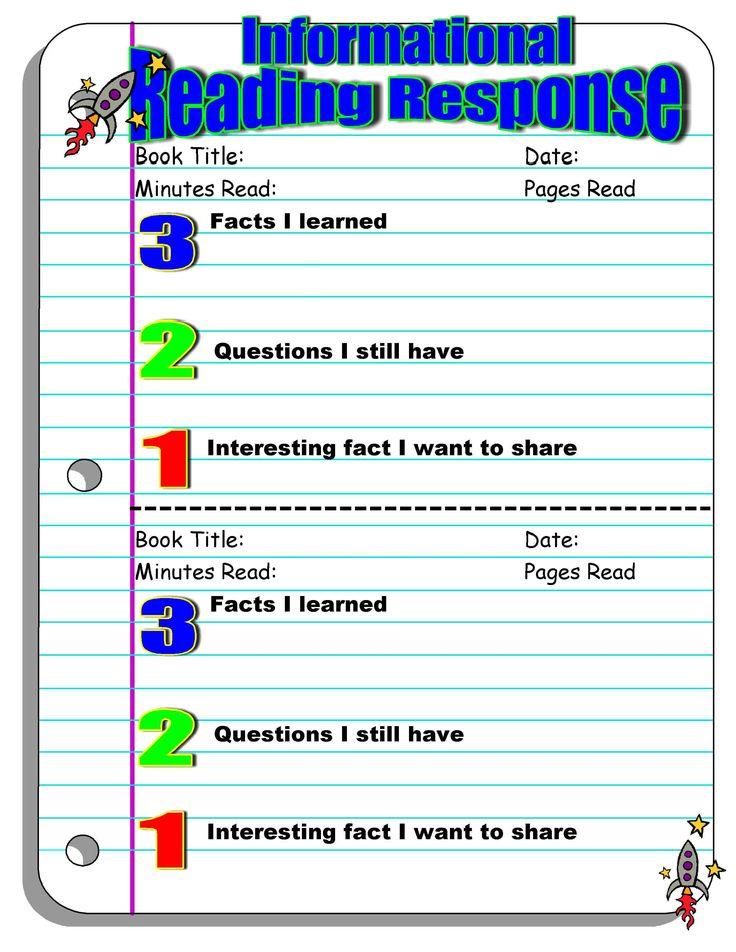 Investigating Nonfiction Informational Reading Response