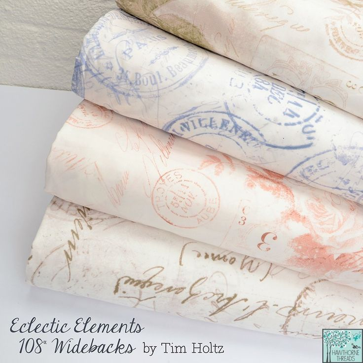 Tim Holtz - Eclectic Elements 108 Inch Wideback Fabric Collection