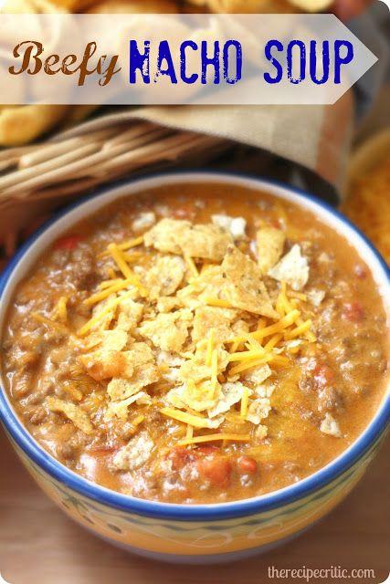 Beefy Nacho Soup: