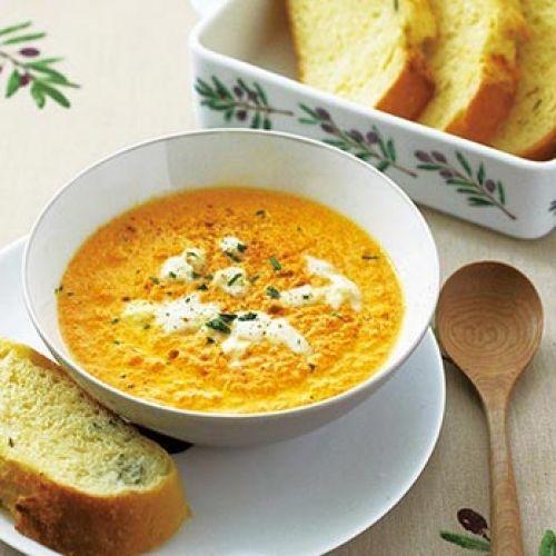 にんじんペーストのスープ(レシピ:ゆとりの空間)