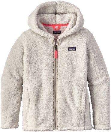 Patagonia Girl's Los Gatos Fleece Hoodie Tailored Grey/Indy Pink XL
