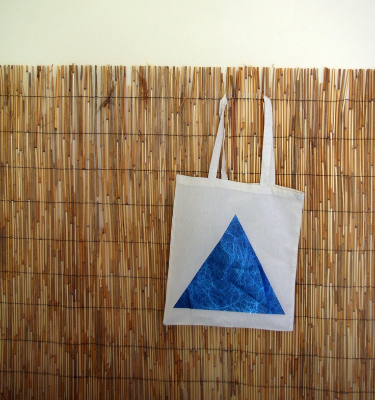 Tote Bag Design: Marble Triangle
