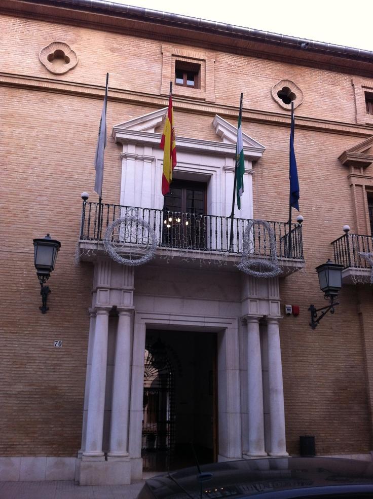 Banderas de Antequera, España, Andalucía y Europa en el  Ayuntamiento de Antequera