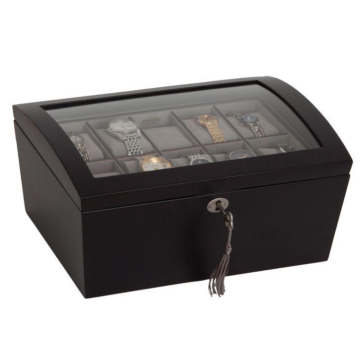 Mele & Co. 'Royce' Locking Top Java Wood Watch Box