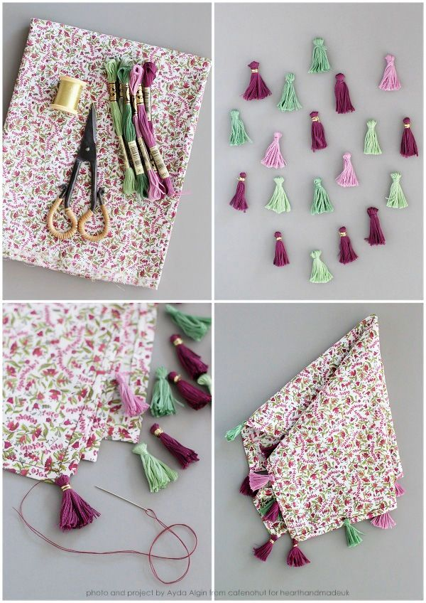 diy tutorial DIY Tassel Napkins From The Craft Cafe