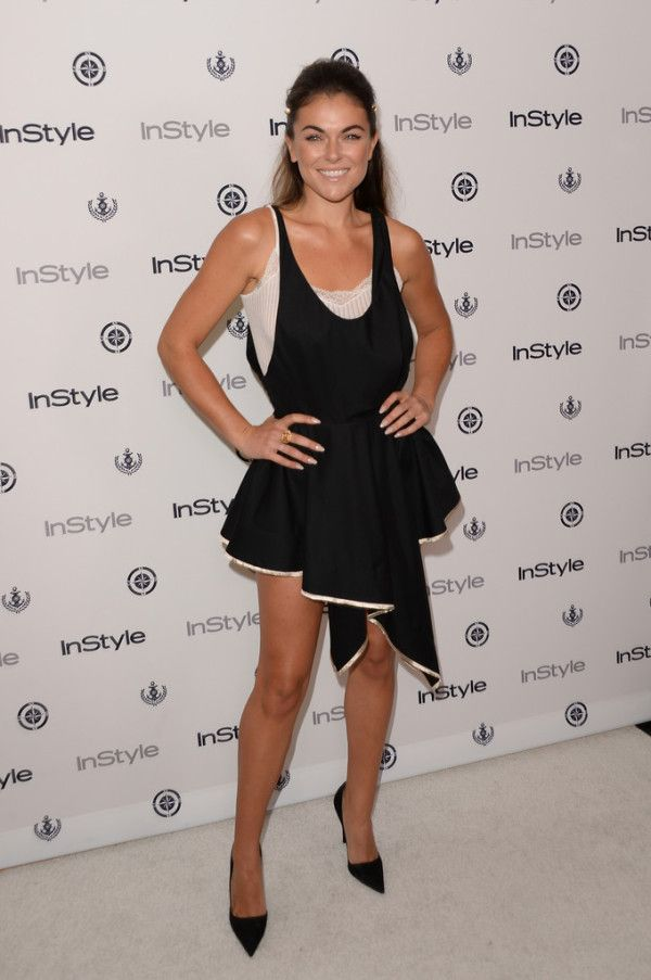 Fabulously Spotted: Serinda Swan Wearing Balenciaga - 2013 InStyle Summer Soiree - http://www.becauseiamfabulous.com/2013/08/serinda-swan-wearing-balenciaga-2013-instyle-summer-soiree/