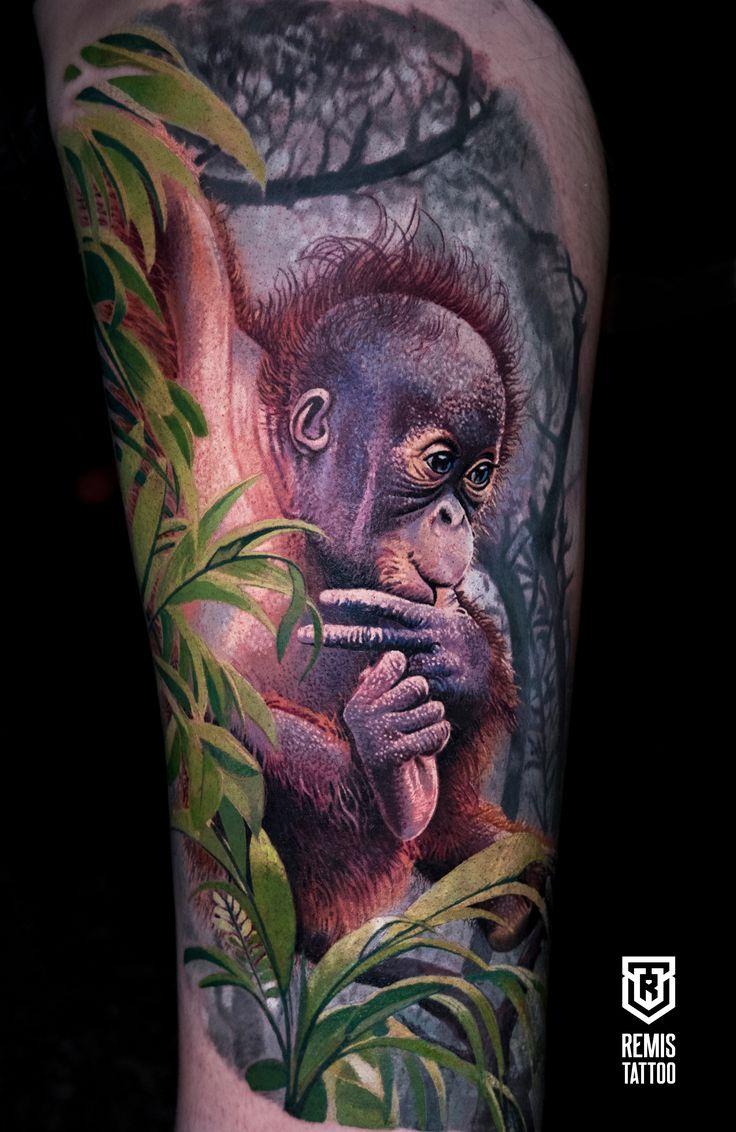 Realistic Tattoo Dublin Tattoo Ireland Tattoo Tattoo Inspiration Sleeve Tattoo Color Tattoo Lithuania Tattoo Remis Jungle Tattoo Monkey Tattoos Tattoos