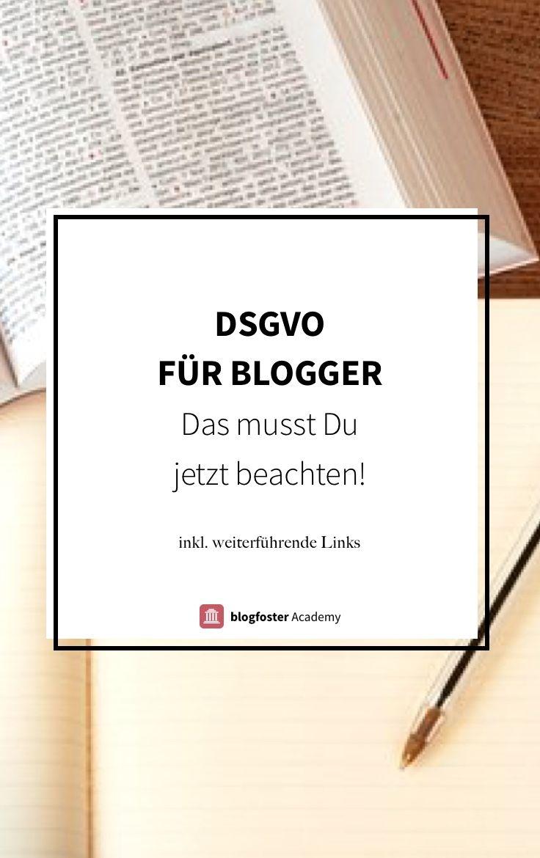 Die DSGVO ist nicht nur für Unternehmen sondern auch für Blogger relevant. Diese Punkte werden wichtig – inkl. weiterführendes Material. – einefraupaul