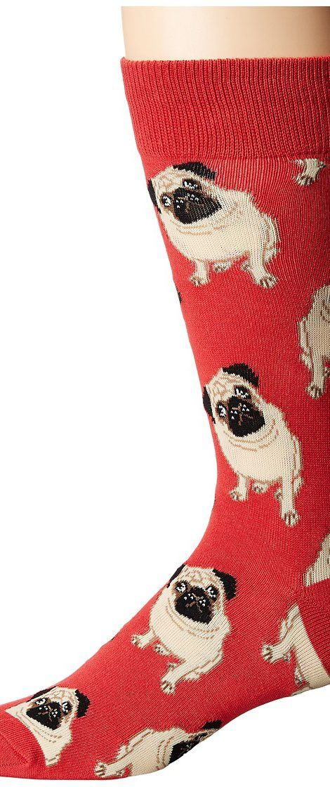 Socksmith Pugs (Terracotta Red) Men's Crew Cut Socks Shoes - Socksmith, Pugs, MNC609-TCR, Footwear Socks Crew Cut, Crew Cut, Socks, Footwear, Shoes, Gift - Outfit Ideas And Street Style 2017