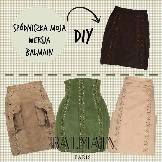 ...Dalwi... blog o szyciu i nie tylko: DIY - Spódniczka z wiązaniami ala Balmain
