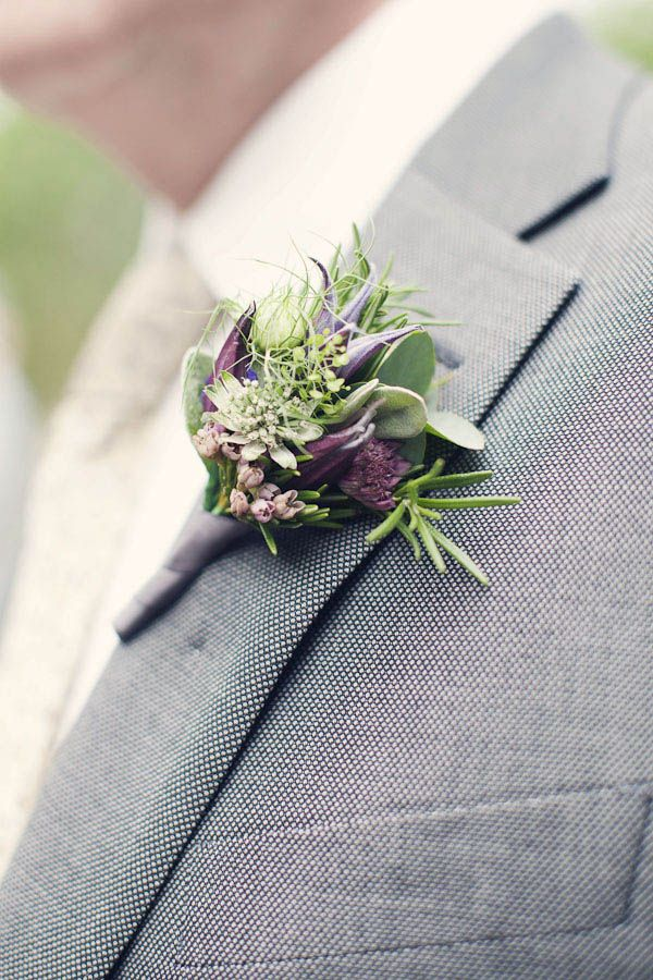 green and purple with grey suit