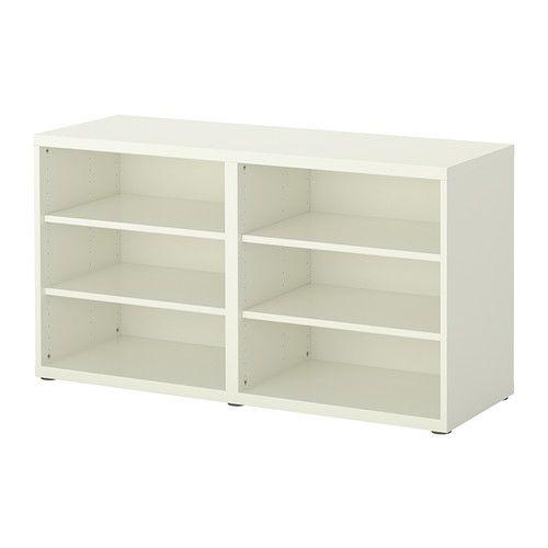 BESTÅ Shelf unit/height extension unit, white white 47 1/4x15 3/4x25 1/4