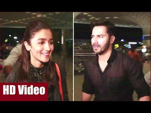Alia Bhatt & Varun Dhawan at Mumbai Airport leaving for shooting in Singapore.  #aliabhatt #varundhawan #bollywood #bollywoodnews #bollywoodnewsvilla #mumbaiairport