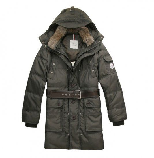 Moncler men's down outwear Army Green.