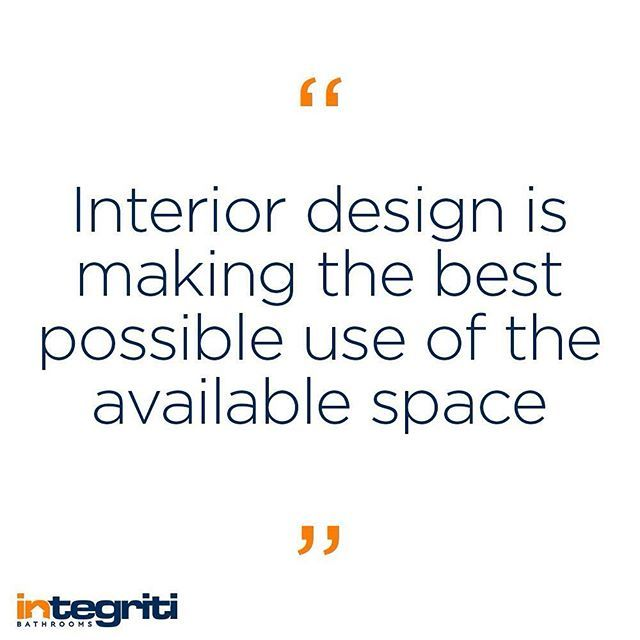 Space is always a premium and so good design is a must. #integritibathrooms #interiordesign #bathroomdesign #design #home #house #property #monday #motivation #motivationmonday #quote #instaquote #designquote #inspiration
