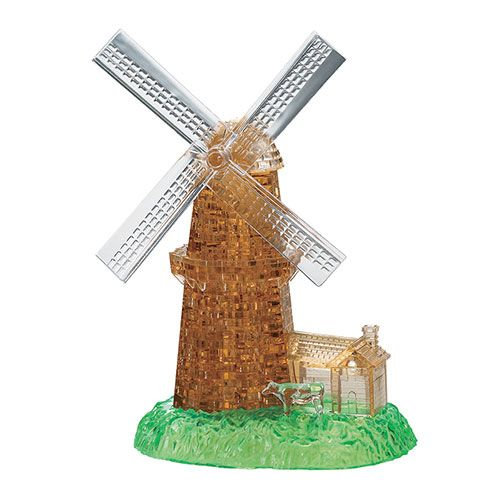 Crystal Puzzle Windmill 3D