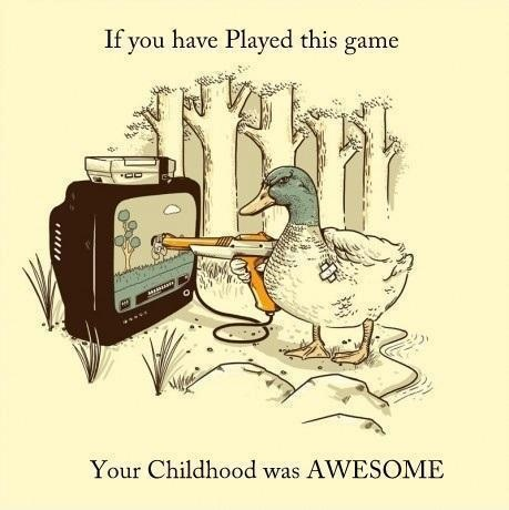 Duck Hunt. :) lol I played this as a kid!