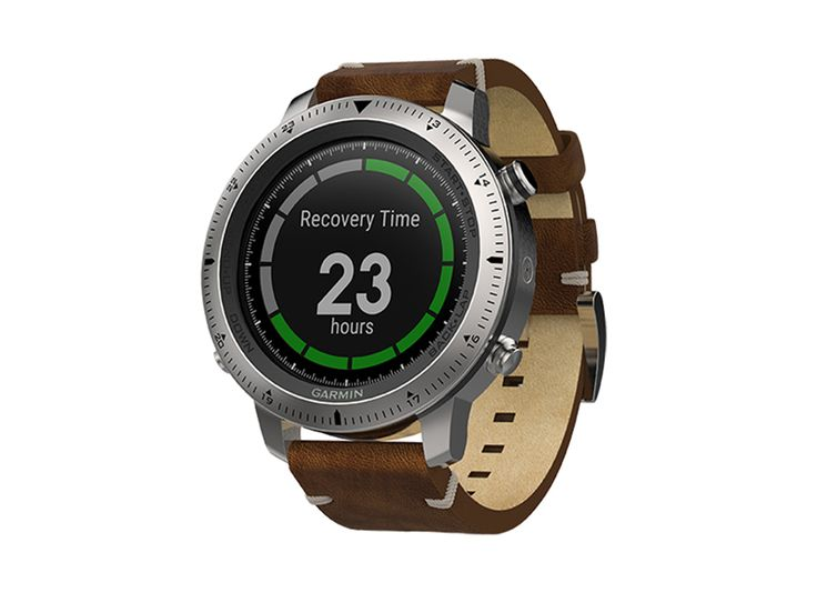 Спортивные часы Garmin Fenix Chronos с кожаным браслетом - купить в интернет магазине Madrobots по доступной цене с доставкой по Москве и России