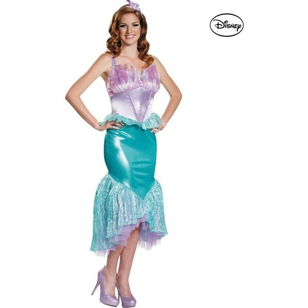 Adult Disney The Little Mermaid Ariel Deluxe Costume ($57) ❤ liked on Polyvore featuring costumes, halloween costumes, multicolor, ariel costume, adult ariel costume, colorful costumes, deluxe adult halloween costumes and colorful halloween costumes