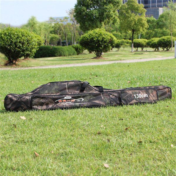 2015 New ! 1.3m Gray /Green Nylon Wear-resisting Multifunction Portable Fishing Tackle Bag Fishing Rod Bag Outdoor Fishing Bag