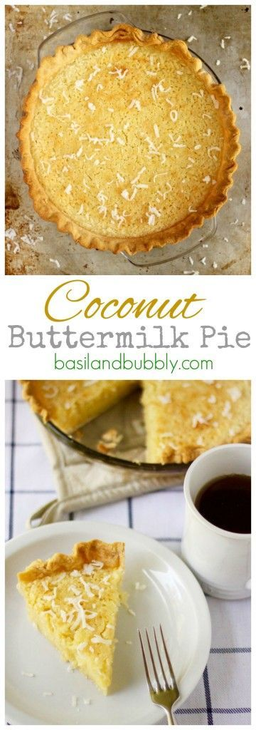 Coconut Buttermilk Pie is a classic southern dessert recipe that's easy to throw together and an impressive dessert.