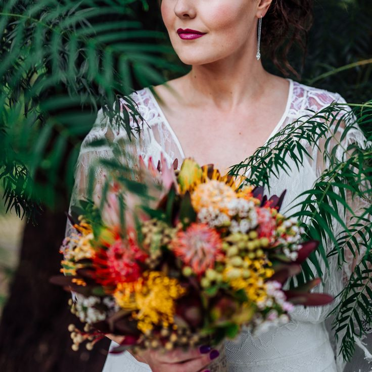 Lovely Flowers for the Lovely Bride..   photographer : @emmawisephotography Flowers by Marilyn (http://www.flowersbymarilyn.com.au) Make-up and Hair by: Beth Haywood @pepperbeth  Dress by: Grace Loves Lace (https://graceloveslace.com.au)