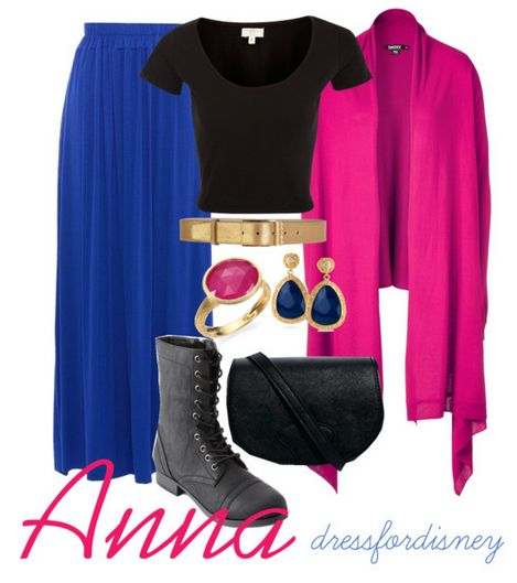 Disneybound Anna, I like this because of the long skirt :)