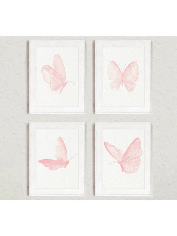 Bedroom Print Minimalist Art Nursery Feminine Print Modern Art Printable Blush Printable set Gallery Wall Print Butterfly Printable