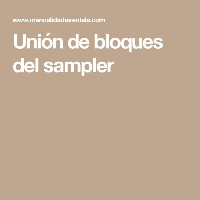 Unión de bloques del sampler