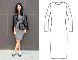 2 в 1: Выкройка базового трикотажного платья и топа