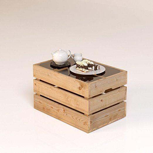 das original bestloft couchtisch beistelltisch eine kiste glas tische pinterest. Black Bedroom Furniture Sets. Home Design Ideas